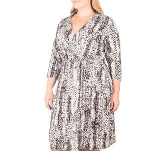NY Collection Plus Size Animal Print Dress NWT